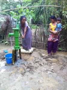 Water tap bilt at chitwan for singe women